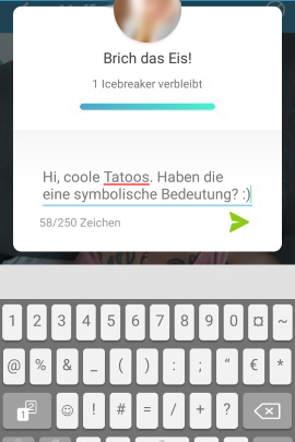 Chat bei Lovoo